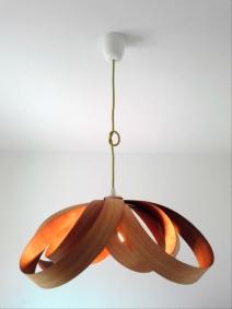 Lámpara Spiry Curupixa-Cedro jp4artwood..